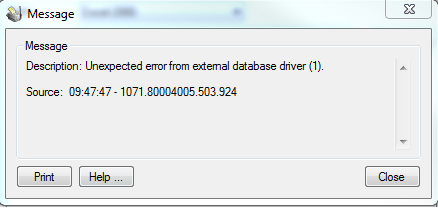 """Unexpected Error"" Importing into Sage 300 and MISys"